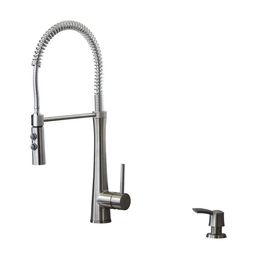 giagni fresco stainless steel 1 handle deck mount pre rinse handle kitchen faucet deck plate included