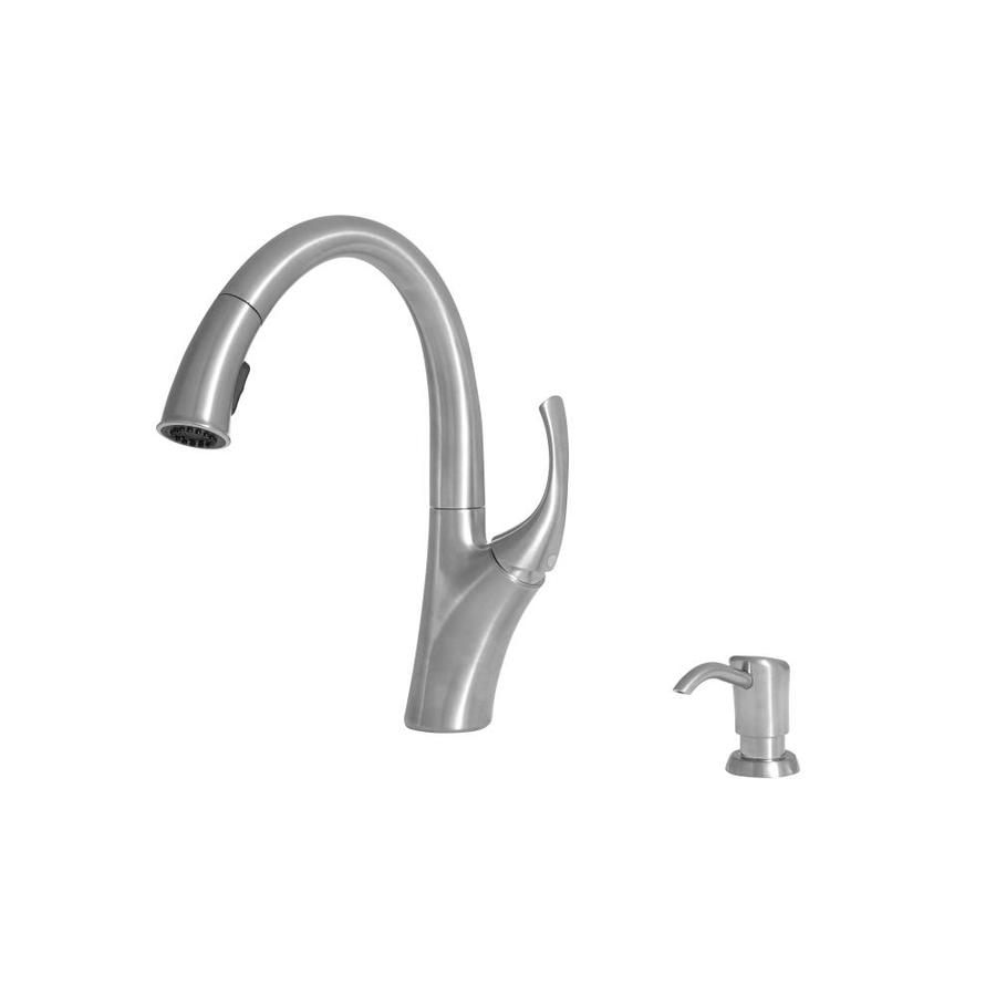 giagni spirale polished chrome 1 handle deck mount pull down handle kitchen faucet deck plate included