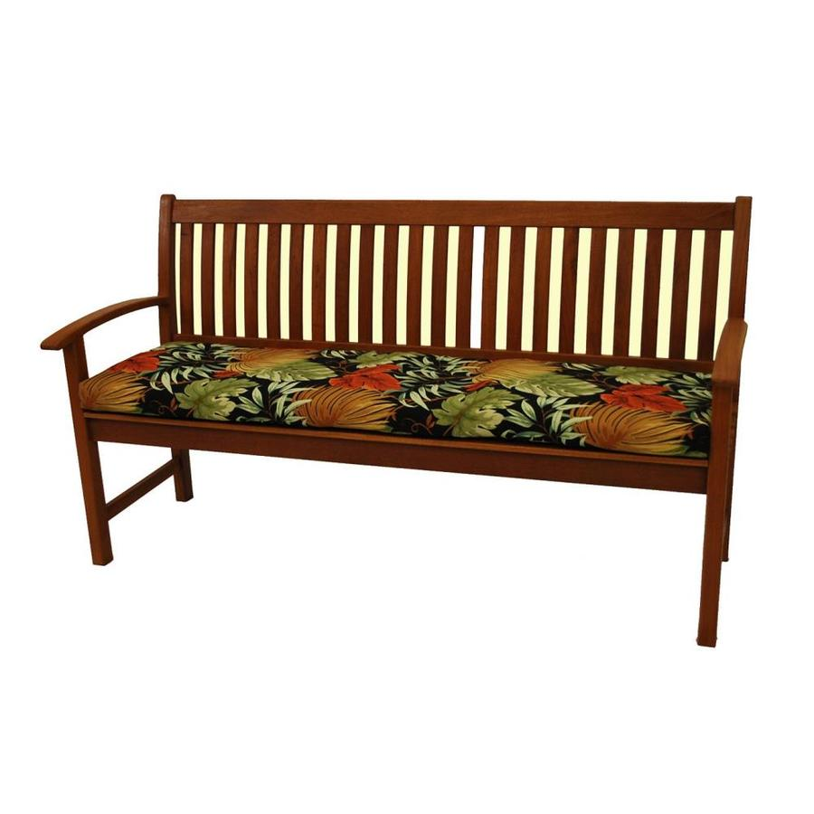 blazing needles dacron tropique raven patio bench cushion