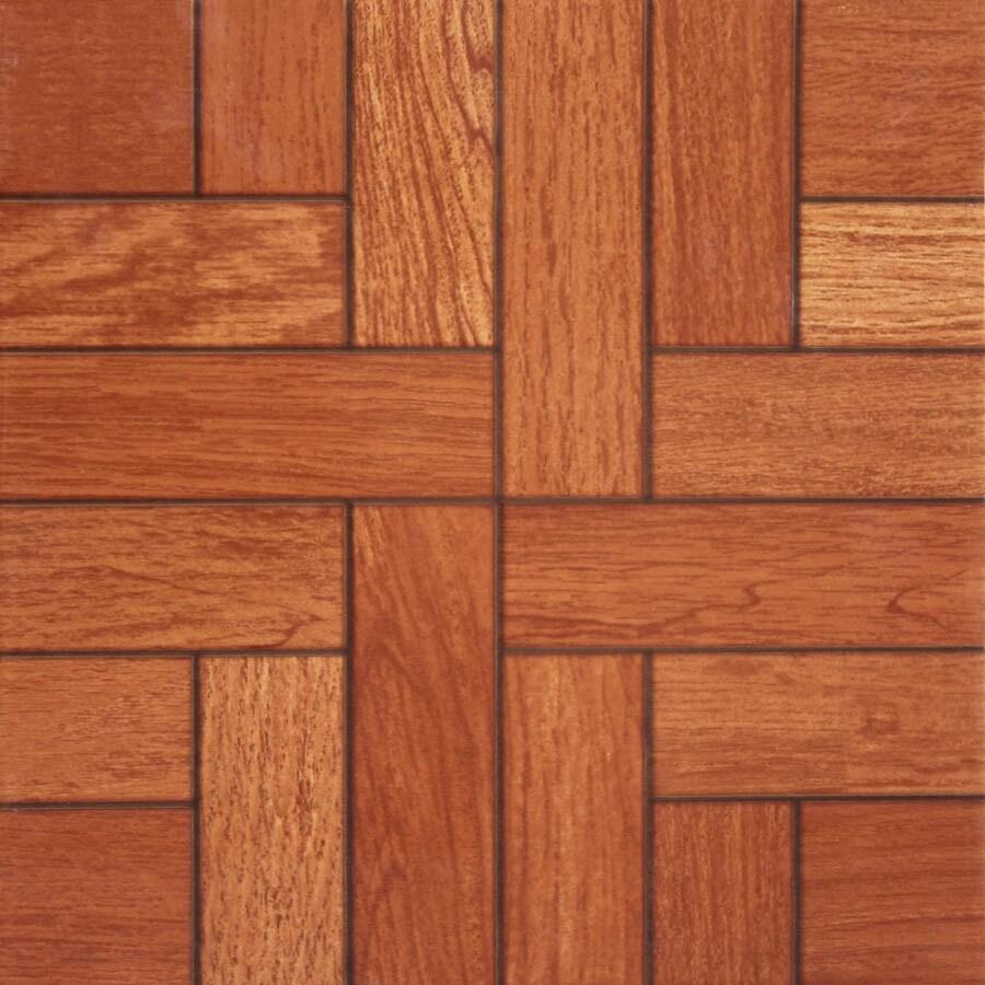 nitrotile monroe cognac glazed ceramic wood look floor tile