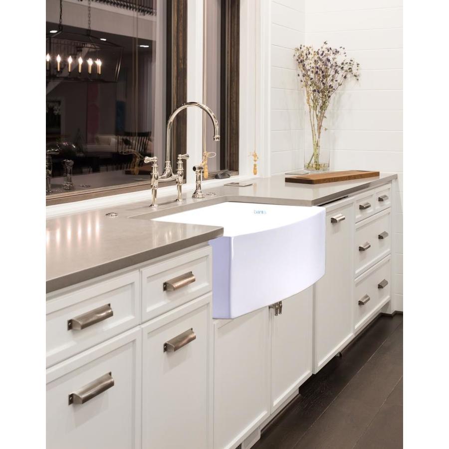 bante arco farmhouse apron front 29 75 in x 19 in white single bowl kitchen sink
