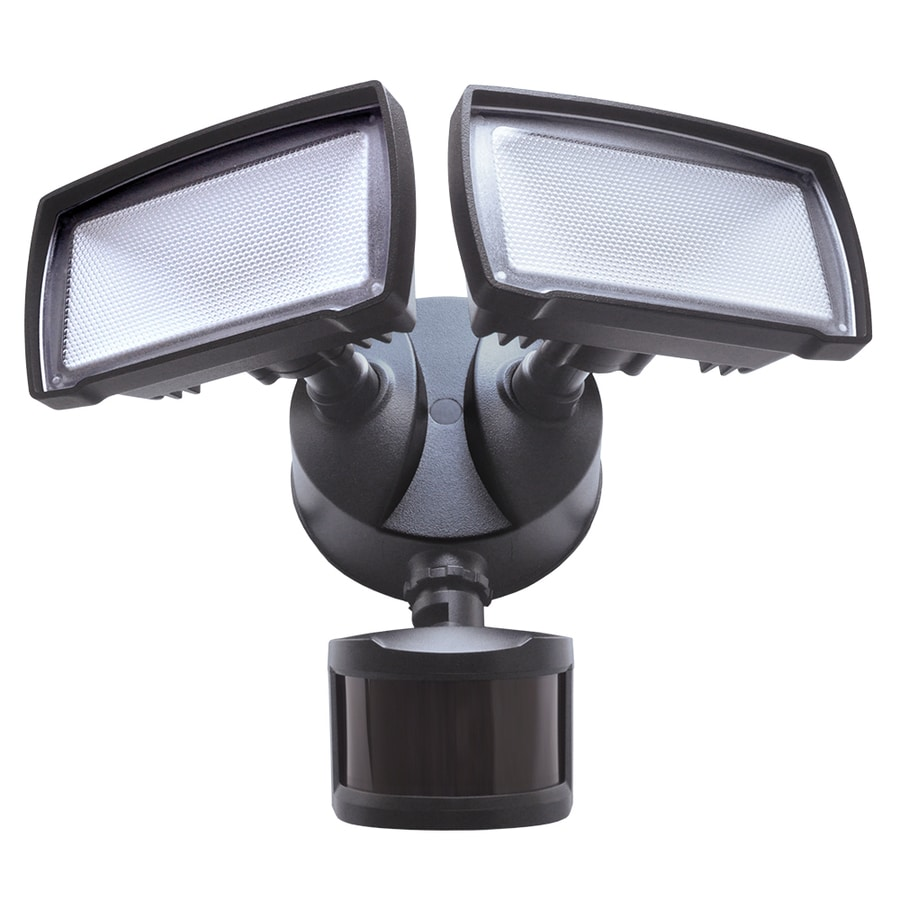 good earth lighting 180 degree 2138 lumen bronze hardwired integrated led motion activated flood light with timer