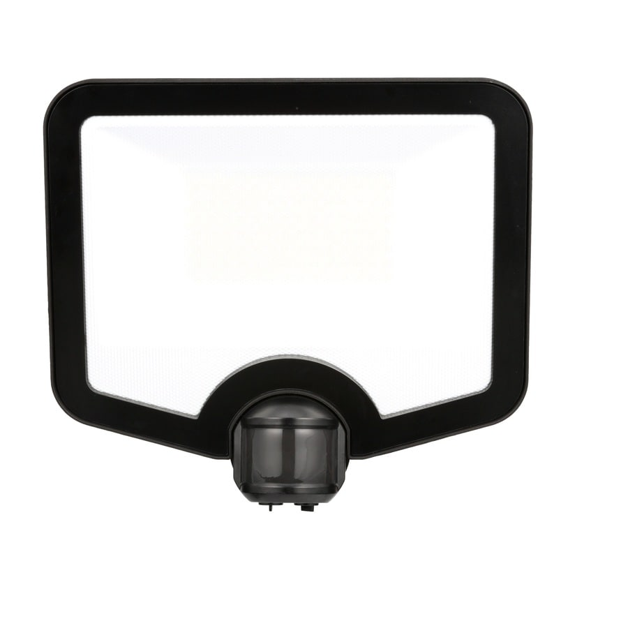 good earth lighting 180 degree 7000 lumen bronze hardwired integrated led motion activated flood light lowes com