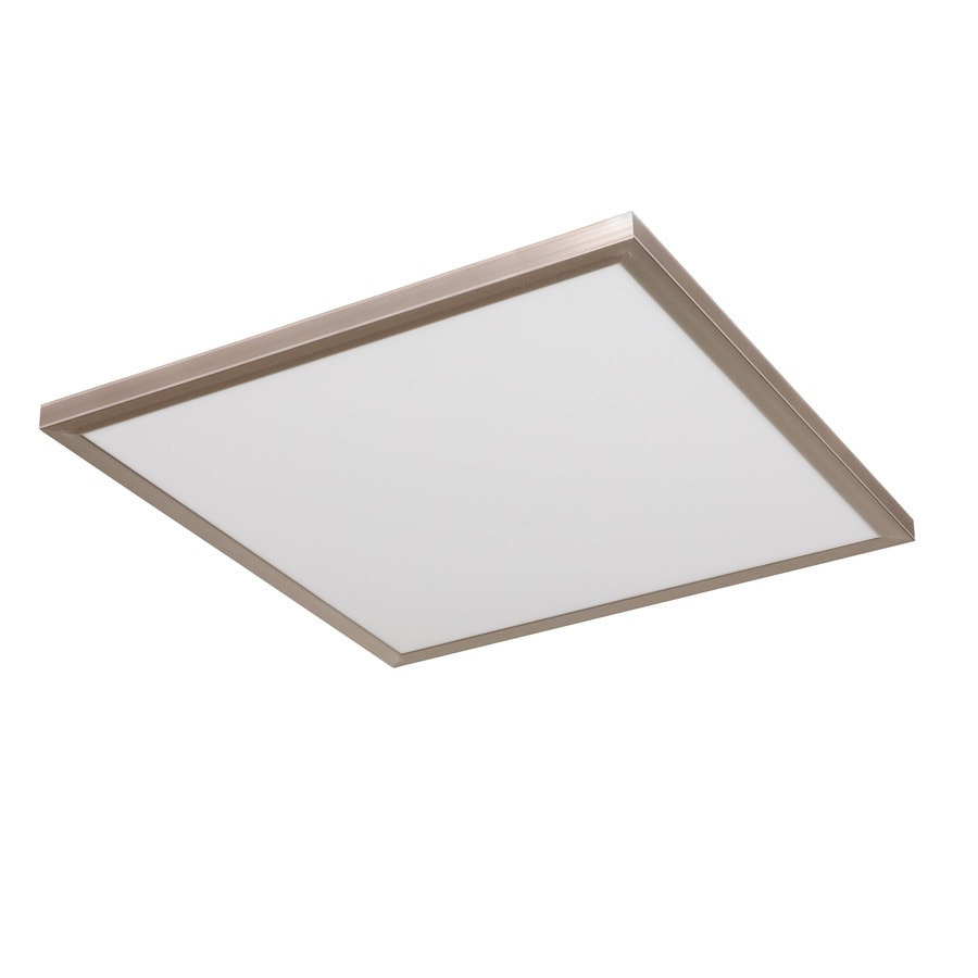 good earth lighting smart led flat panel 24 in brushed nickel traditional led flush mount light lowes com