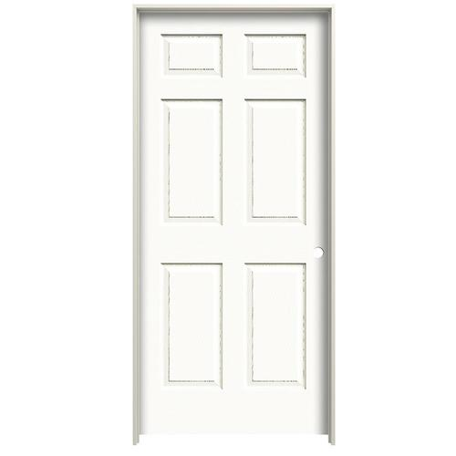 american building supply colonist textured primed 6 panel on 24 In X 80 In Colonist Primed Textured Molded Composite id=91585