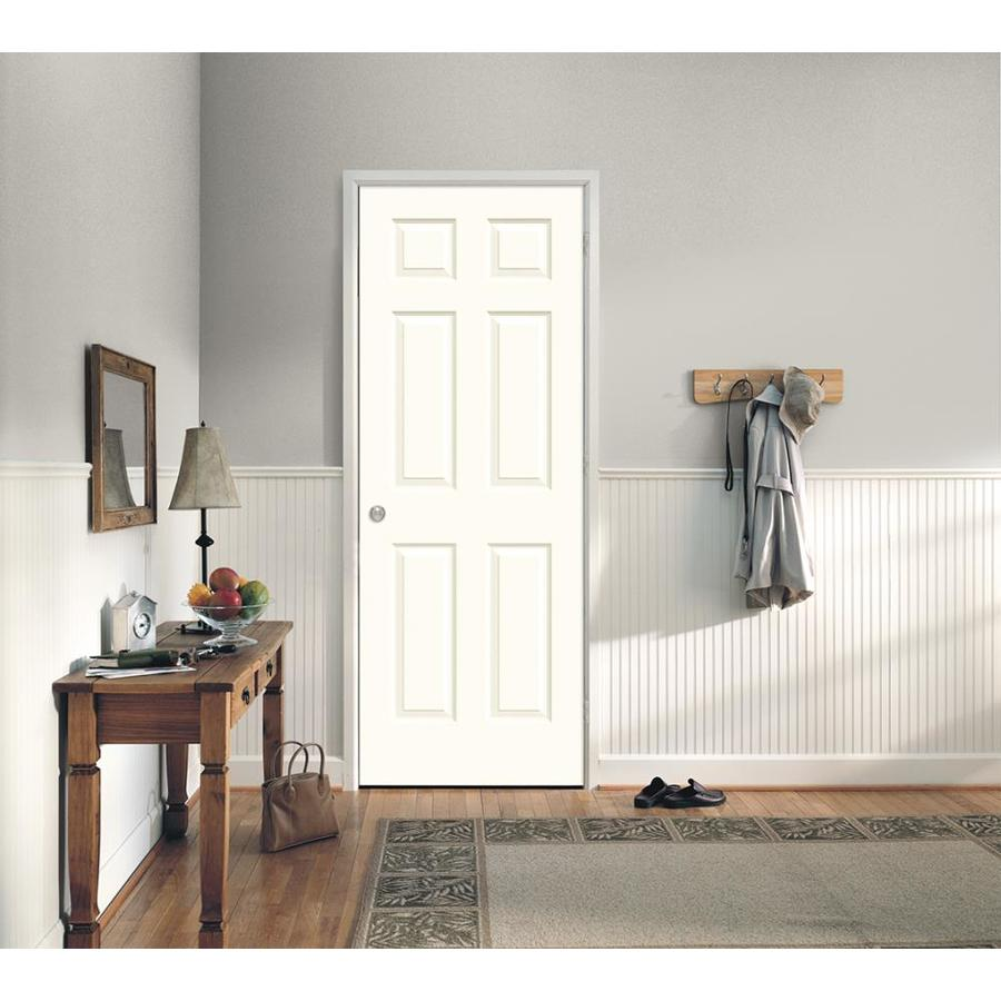 reliabilt colonist textured white 6 panel hollow on Reliabilt Colonist 24 In X 80 In White 6 Panel Primed id=14395