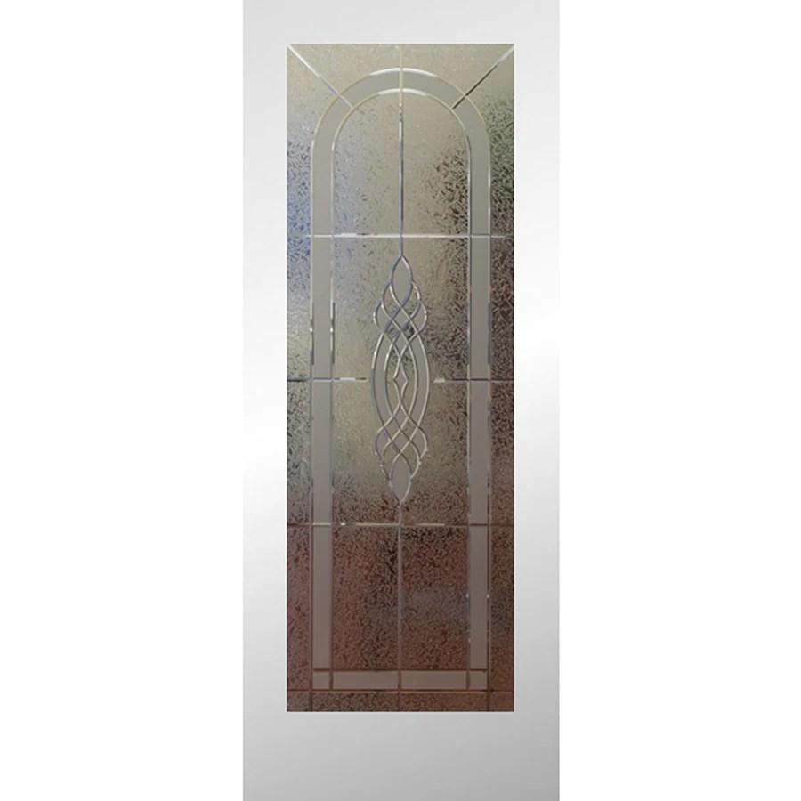 Shop ReliaBilt White 1 Panel Solid Core Etched Glass Wood