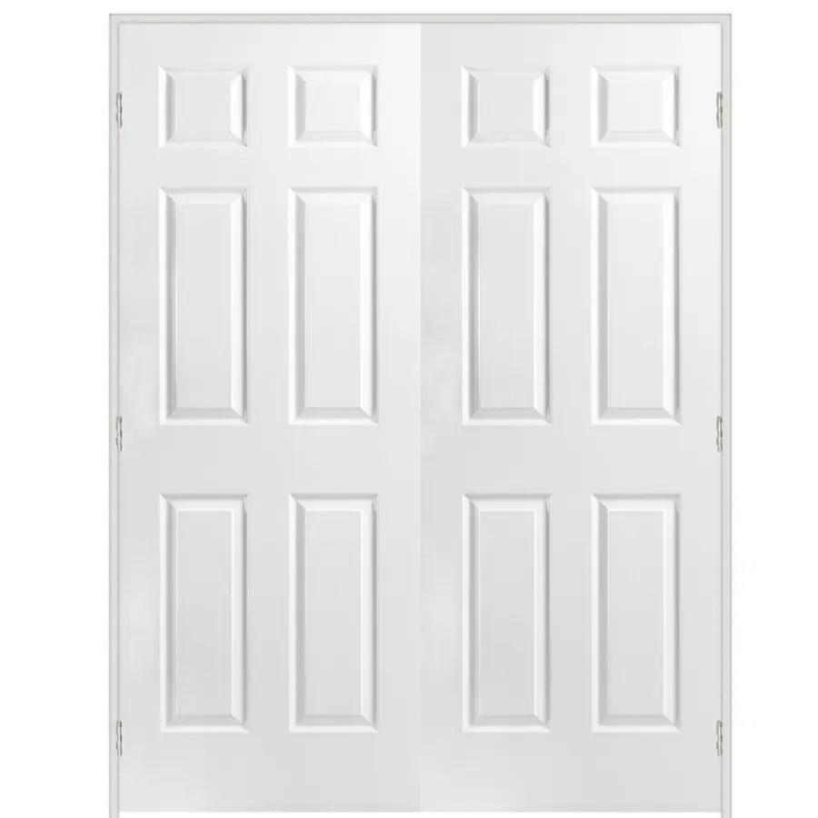 Shop ReliaBilt White 6 Panel Hollow Core Molded Composite