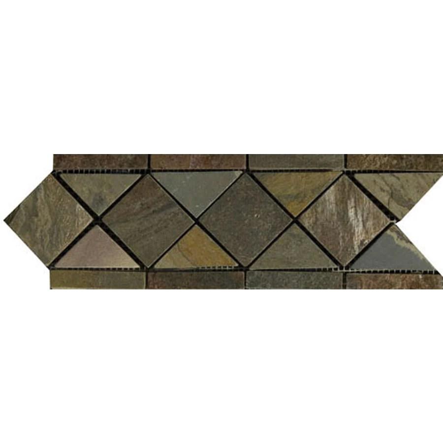 listello natural slate floor tile