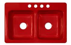Classy Red Kitchen Sink That Will Attract Your Attention For Sure