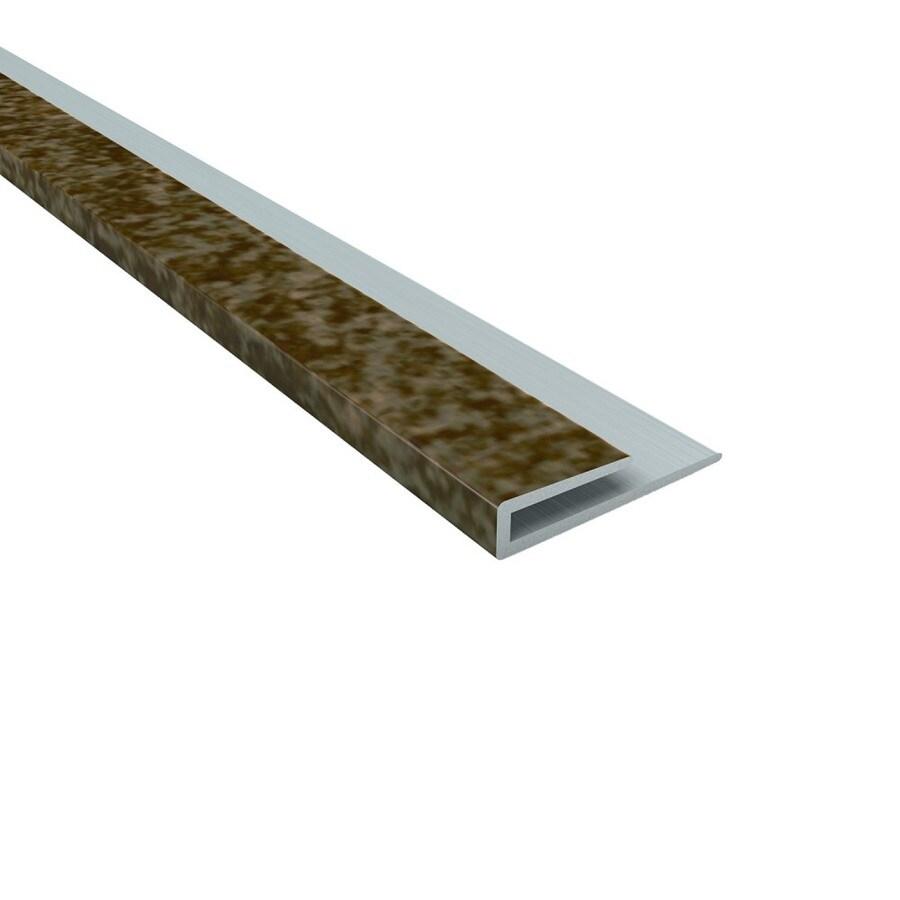 fasade 0 19 in w x 48 in l smoked pewter pvc tile edge trim