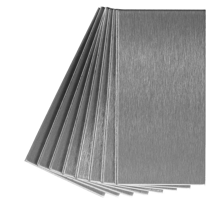 ceramic tiles aspect peel and stick backsplash brushed bronze long grain metal tile sample for kitchen and bathrooms 3 x 6 sample building supplies