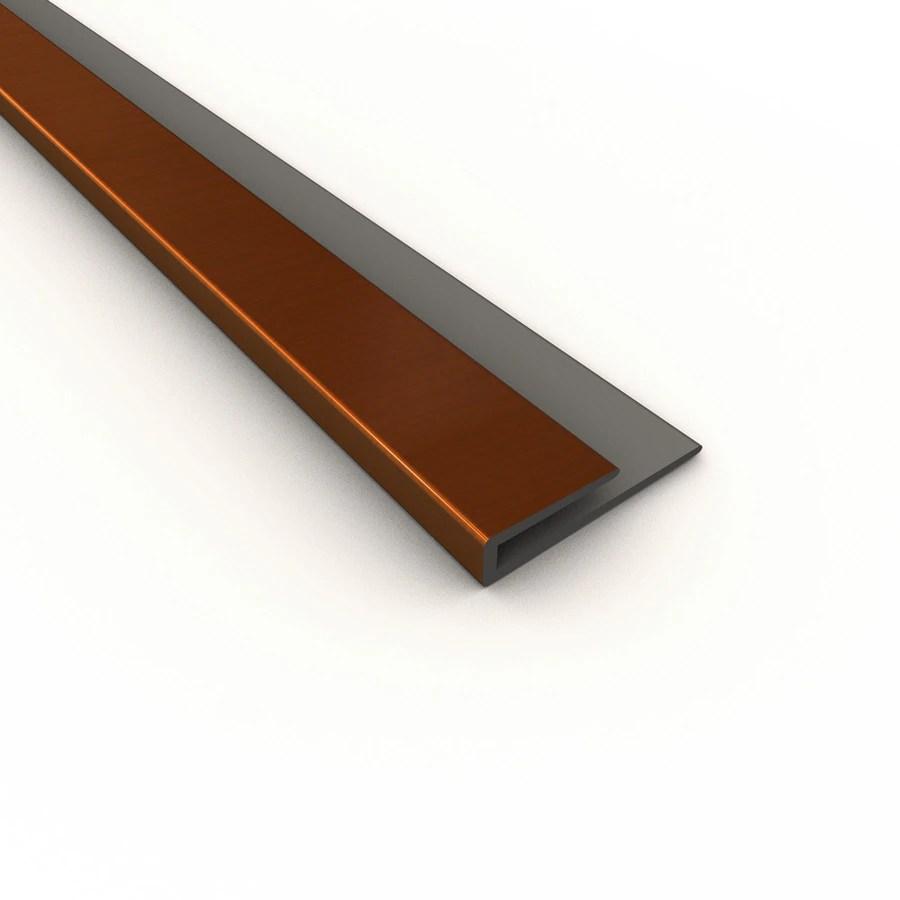 fasade j trim 0 19 in w x 18 in l oil rubbed bronze pvc tile edge trim