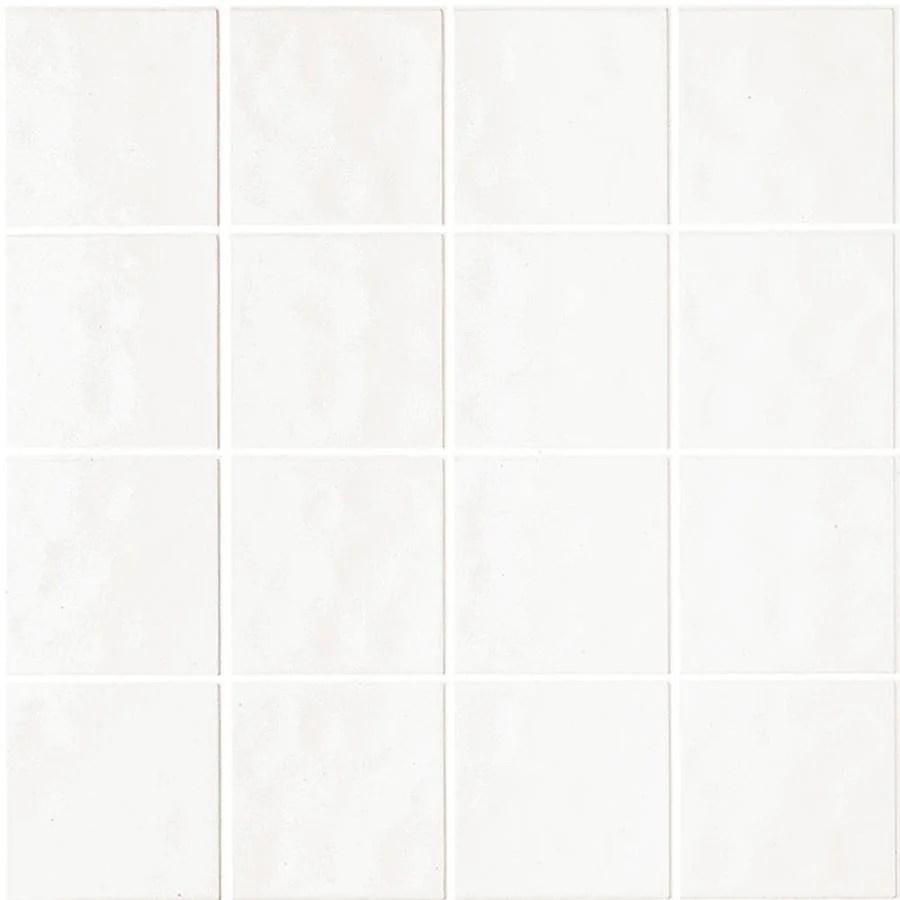 3 98 ft x 7 98 ft white ceramic style tile board lowes com