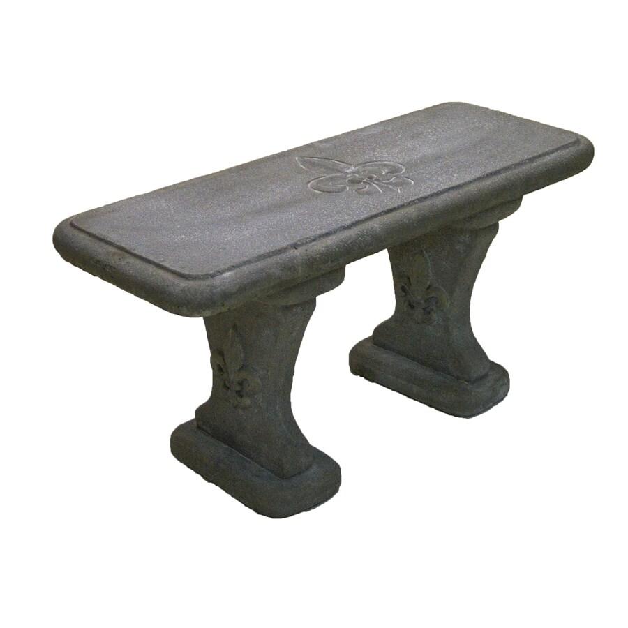 35 in w x 17 in l flint concrete bench