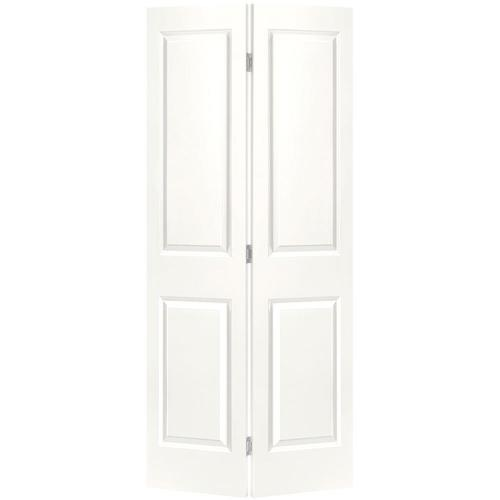 masonite traditional white 4 panel square molded composite on 29 5 White 30 X 79 Bifold Doors Interior Amp Closet id=69967