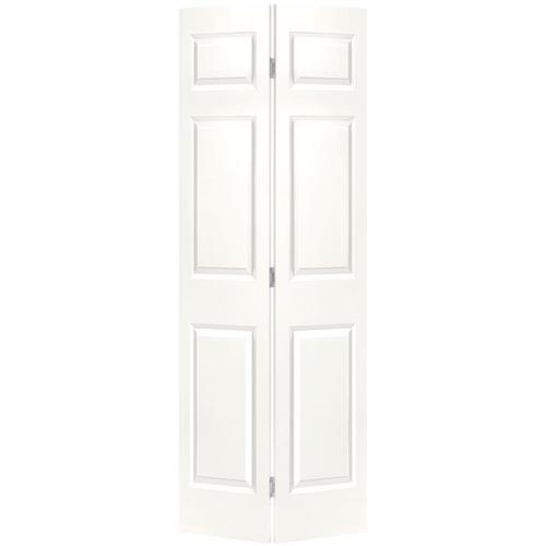 masonite traditional white 6 panel molded composite bifold 29 5 White 30 X 79 Bifold Doors Interior Amp Closet id=30947