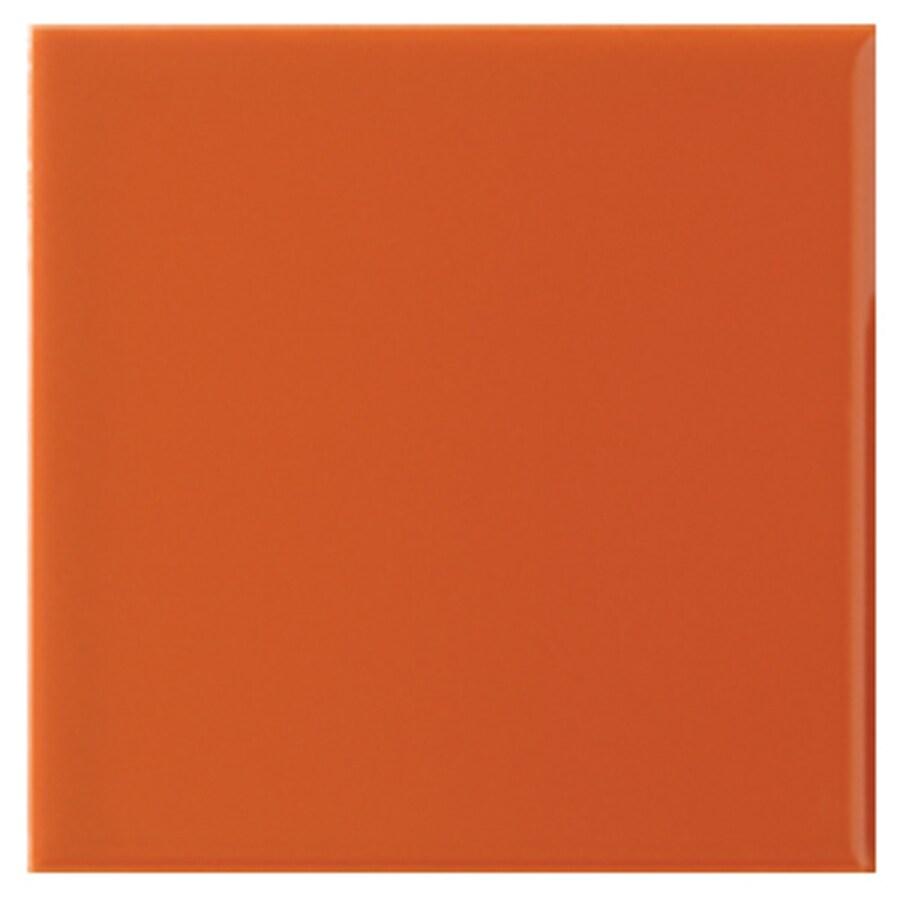 pack orange clay ceramic wall tile