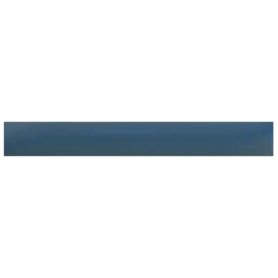 blue ceramic pencil liner tile