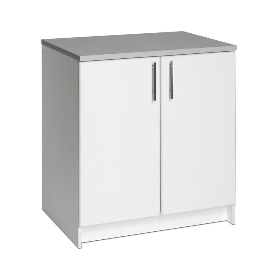 prepac elite 32 in w wood composite freestanding utility on lowe s laundry room storage cabinets id=33542