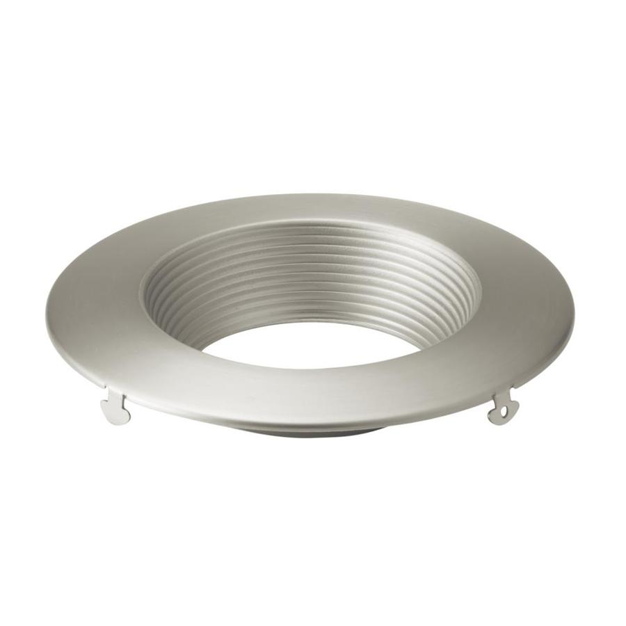 kichler direct to ceiling 4 in brushed nickel baffle recessed light trim