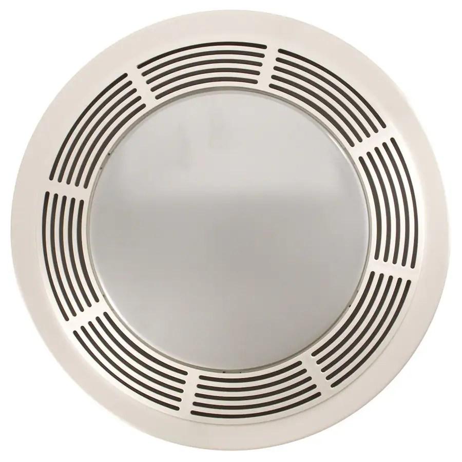 nutone 3 5 sone 100 cfm polymeric white bathroom fan