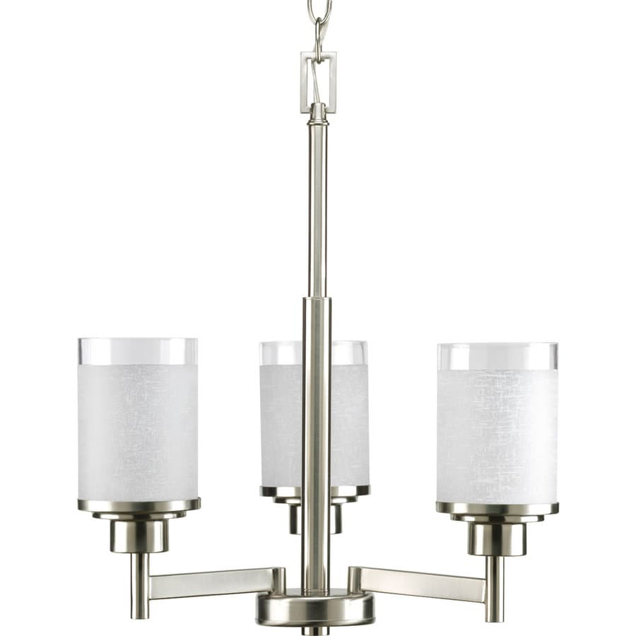 Progress Lighting Alexa 17 In 3 Light Brushed Nickel Shaded Chandelier