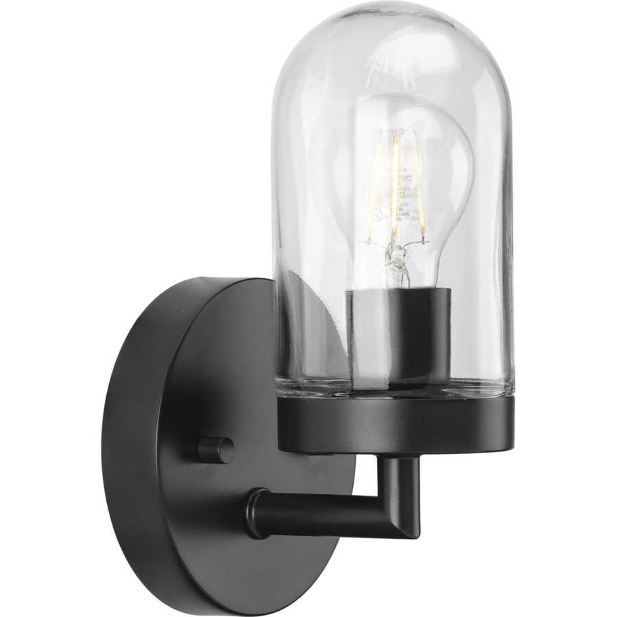 progress lighting signal 1 light black coastal vanity light
