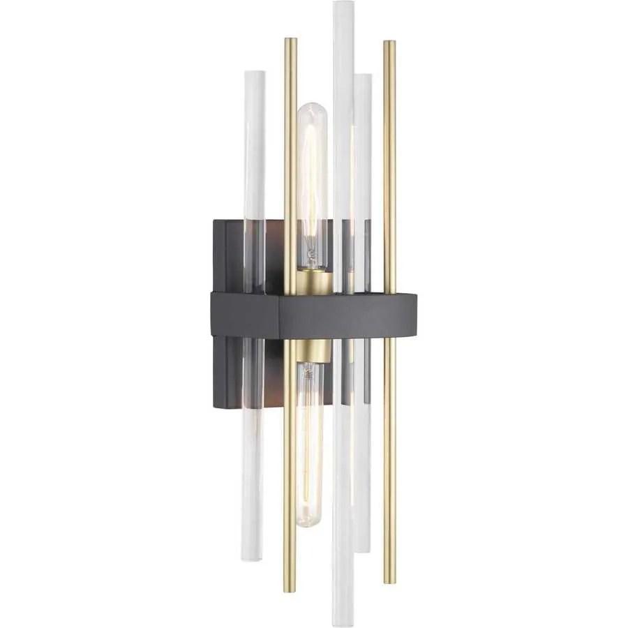 Progress Lighting Orrizo 6.375-in W 2-Light Black Modern ... on Wall Sconces Modern id=84820