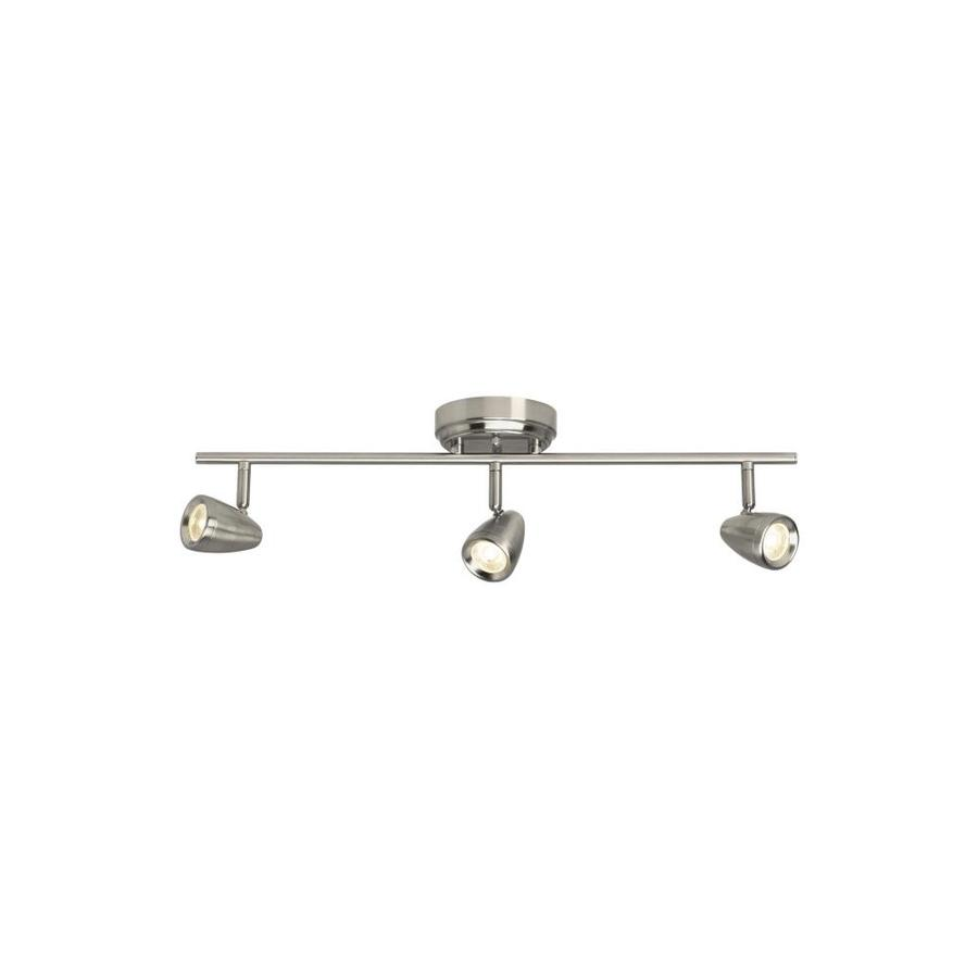 sea gull lighting talida 3 light 24 375 in brushed nickel dimmable led track bar fixed track light kit