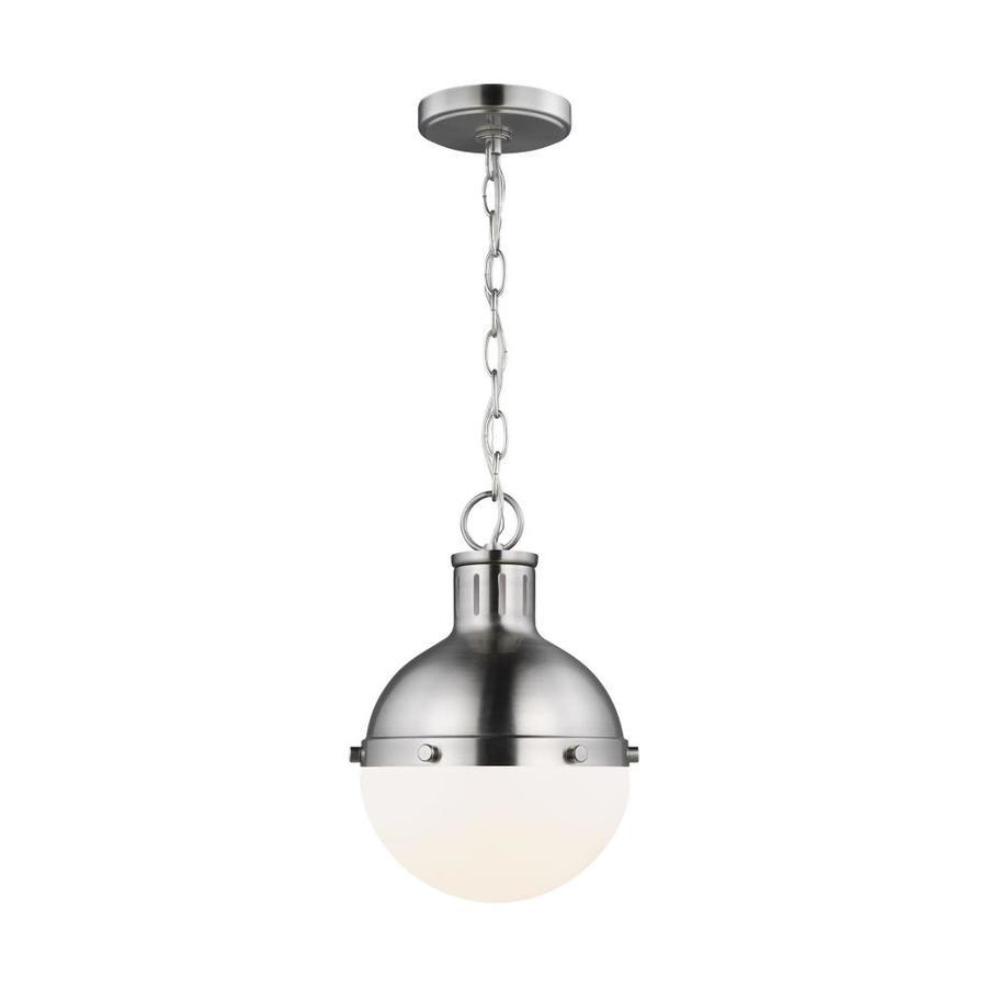 https www lowes com pd sea gull lighting hanks 1 light brushed nickel mini pendant 5000865041