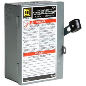 Square D 30Amp Fusible Metallic Disconnect at Lowes