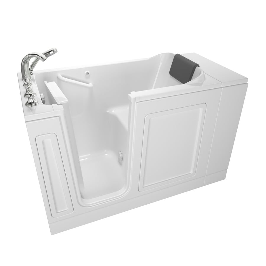 Shop American Standard 48 In White With Left Hand Drain