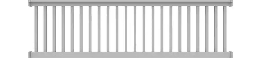 Freedom Lincoln White Pvc Deck Rail Kit With Balusters In The Deck | Pvc Railings For Steps | 3 Step | Plastic | Corner Interior Stair | Steel Vertical Balustrade White Handrail Post | Design