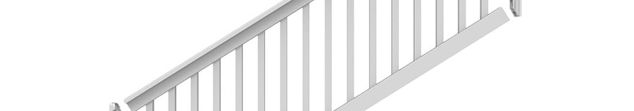Freedom Lincoln Stair White Pvc Deck Stair Rail Kit With Balusters | Lowes Exterior Stair Railing | Railing Systems | Stair Parts | Stair Treads | Lowes Com | Wrought Iron
