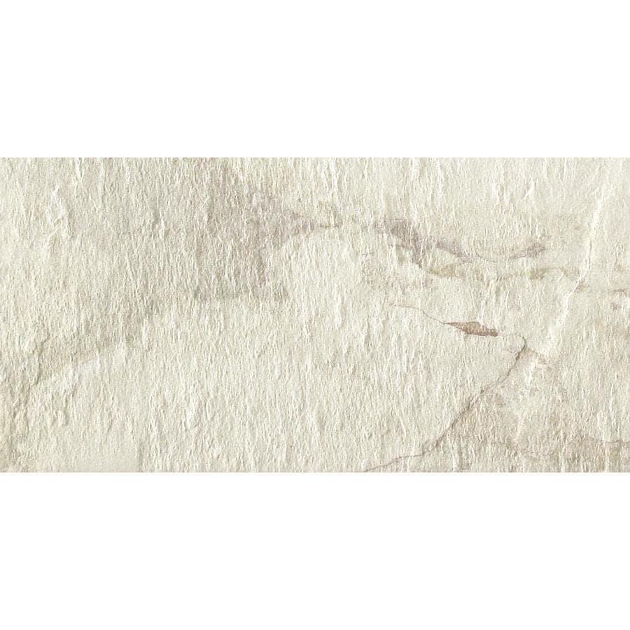 del conca ivetta white 12 in x 24 in glazed porcelain tile