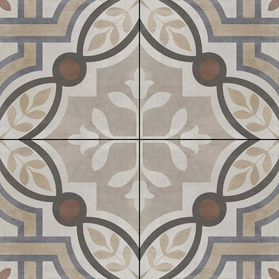 della torre manchester multicolor 8 in x 8 in glazed porcelain encaustic floor and wall tile