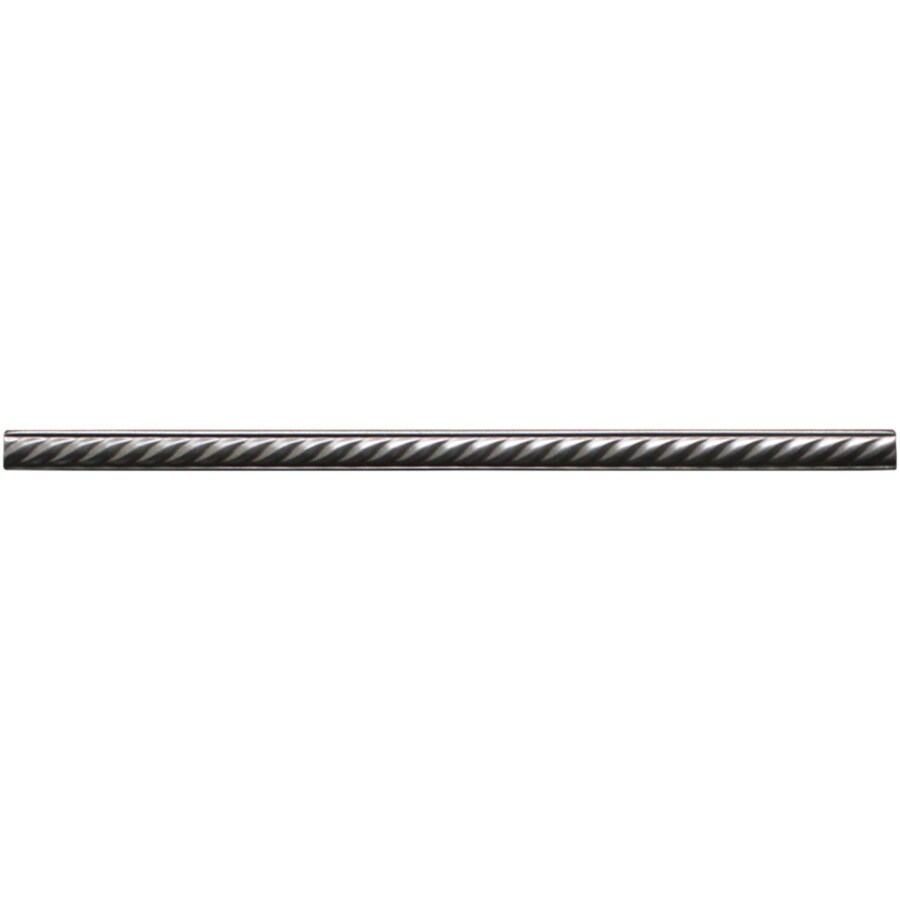 somerset collection somerset brushed nickel metal pencil liner tile 5 8 in x 12 in