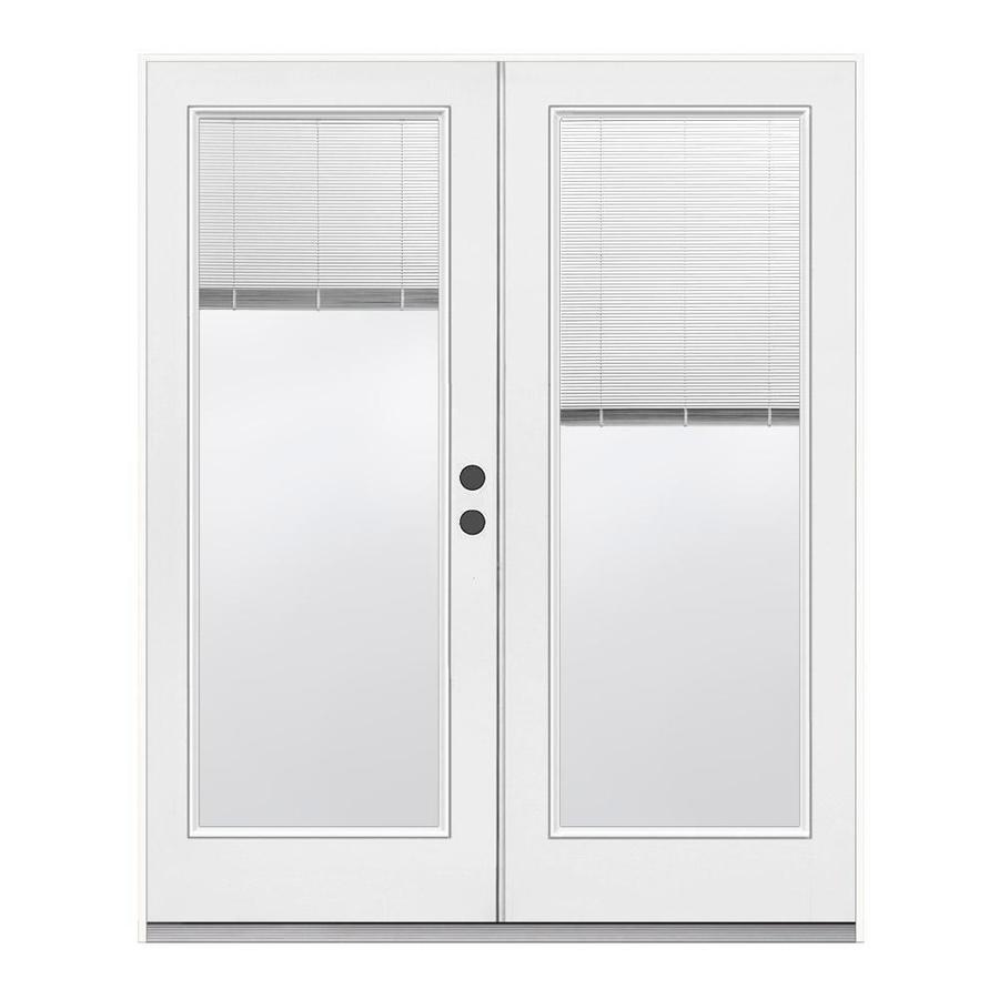 reliabilt 72 in x 80 in blinds between the glass primed steel right hand outswing double door french patio door lowes com