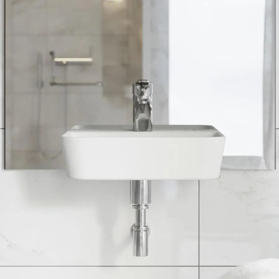 swiss madison st tropez white wall mount rectangular bathroom sink 17 5 in x 14 in