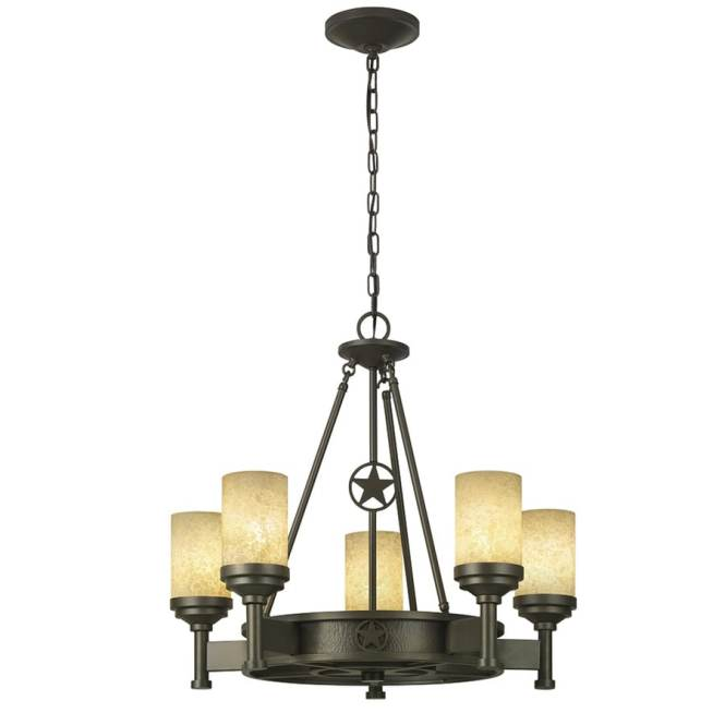 Portfolio Thoroughbred 27 52 In 5 Light Aged Bronze Rustic Textured Glass Candle Chandelier