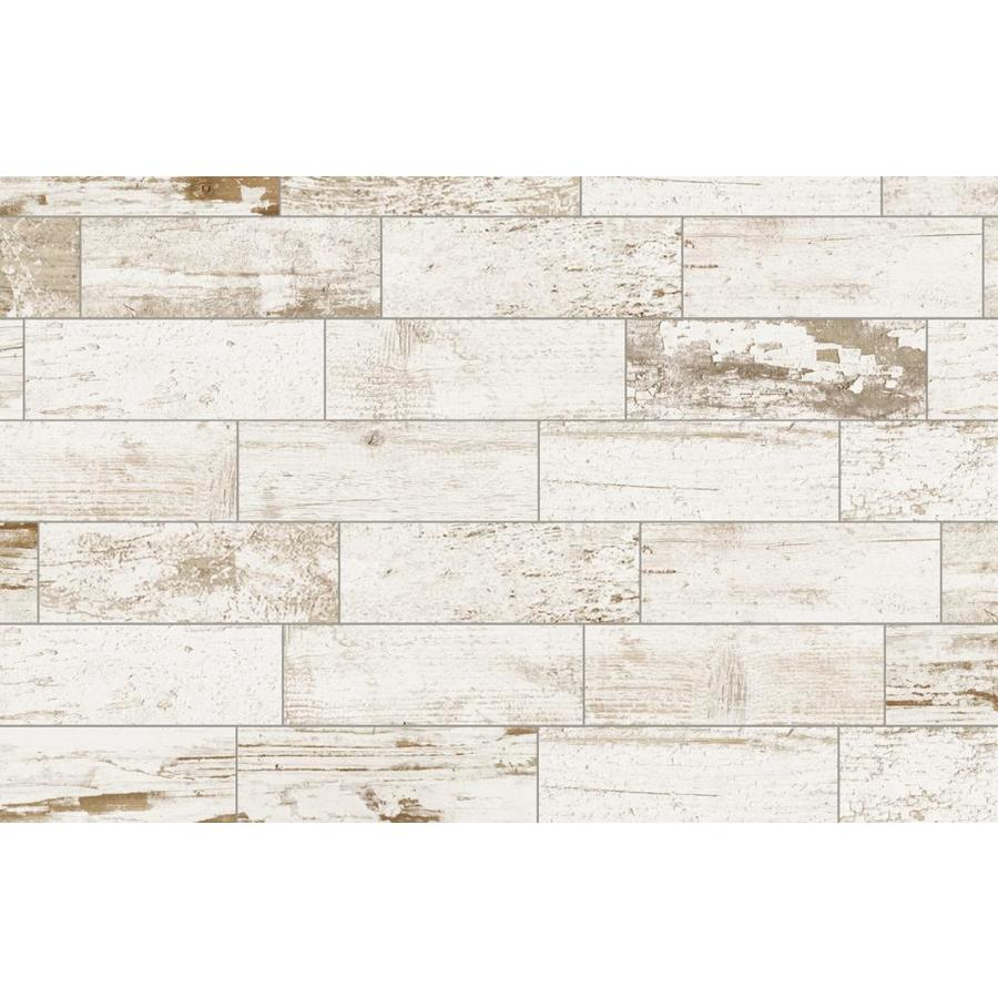 del conca southend white 4 in x 12 in glazed porcelain wood look tile