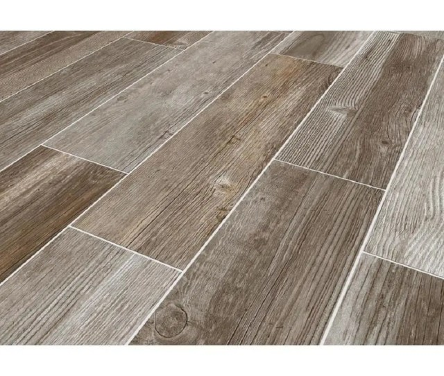 Style Selections Woods French Gray  In X  In Porcelain Wood Look Floor