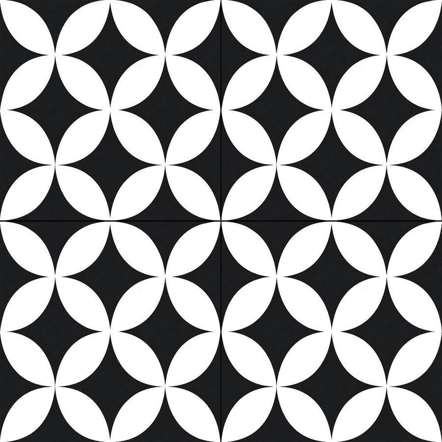 della torre bowman 29 pack black and white 8 in x 8 in glazed porcelain encaustic floor tile