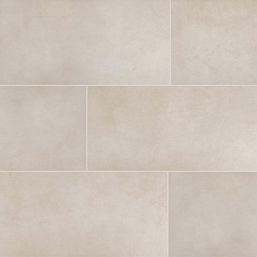 white cement look tile at lowes com