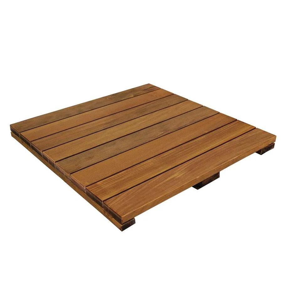 deckwise 1 69 in x 23 875 in x 23 875 in ipe wood deck tile 24x24x43 unfinished ipe deck tile