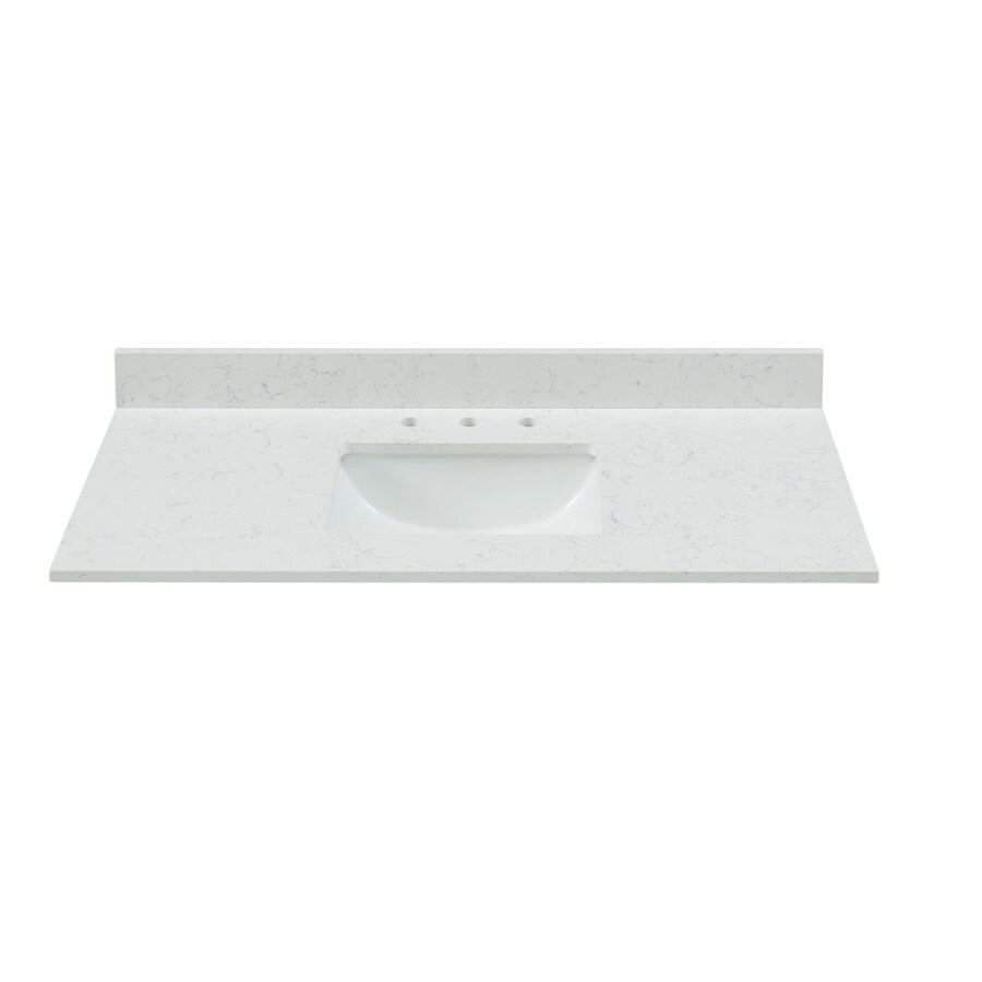 https www lowes com pd bestview 43 in carrara white quartz bathroom vanity top 1000330841