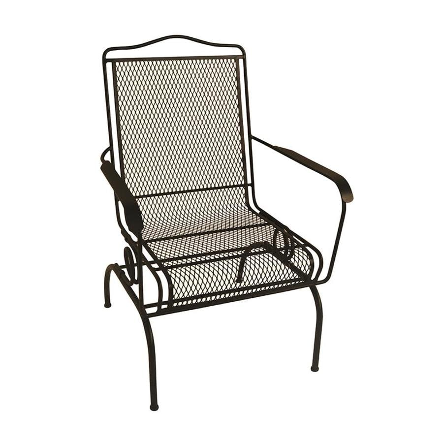 Garden Treasures Black Stackable Metal Spring Motion Dining Chair S With Mesh Seat In The Patio Chairs Department At Lowes Com