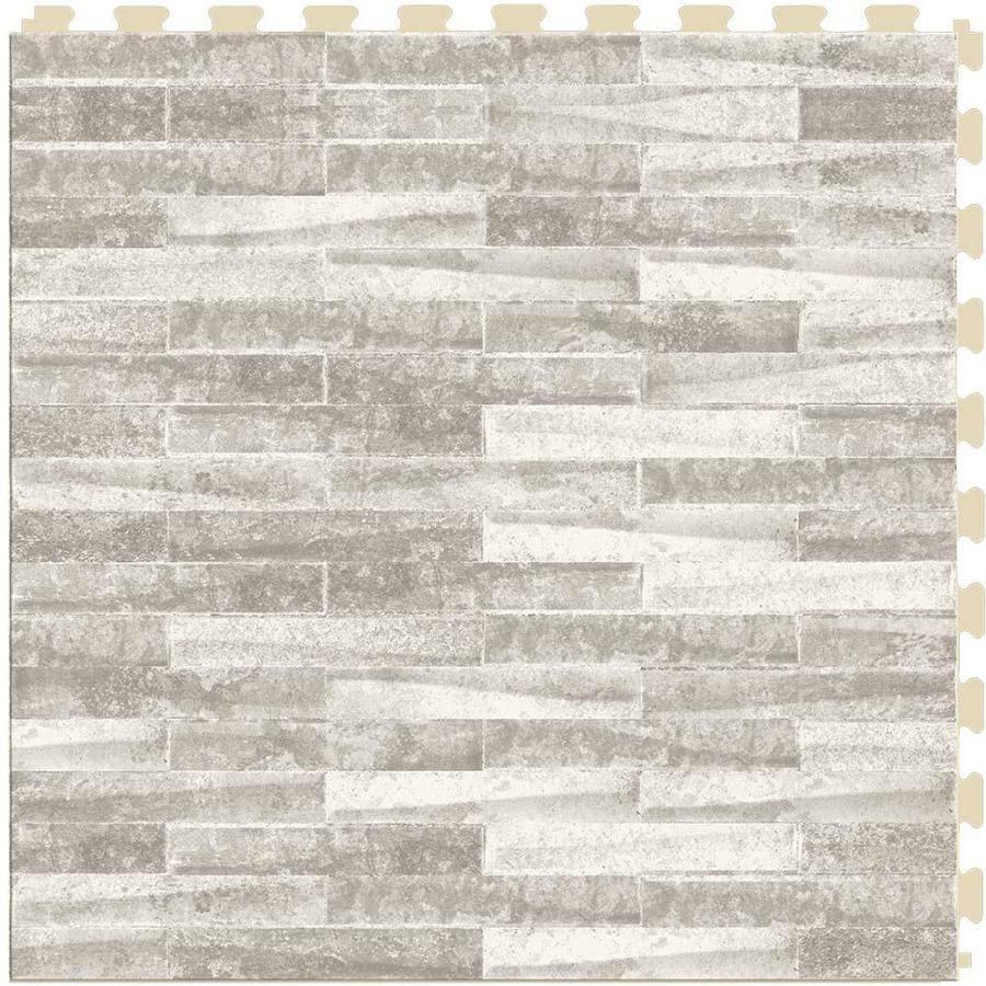 perfection floor tile master mosaic castle stone satin 20 in x 20 in water resistant interlocking luxury vinyl tile 16 7 sq ft