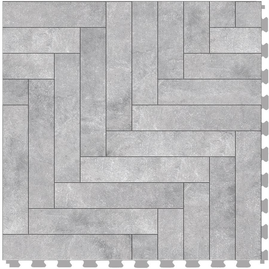perfection floor tile master mosaic chevron graystone satin 20 in x 20 in water resistant interlocking luxury vinyl tile 16 7 sq ft
